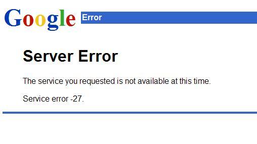 Error en Google